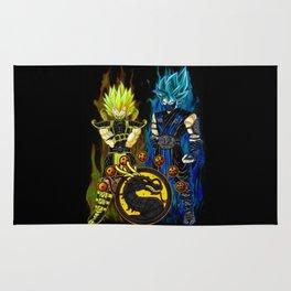 Goku & Vegeta in Mortal Combat cosplay colour Rug