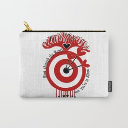 Shot through the Heart Carry-All Pouch