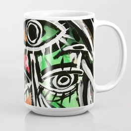 Untitiled - Abstract portrait painting Coffee Mug