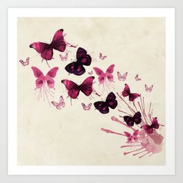 Butterflies Watercolor Art Print