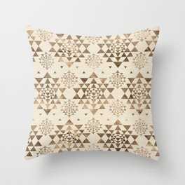 Sri Yantra  pattern - pastel gold Throw Pillow