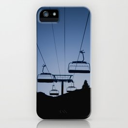 Mammoth Mountain Silhouette iPhone Case