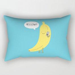Banana on the phone Rectangular Pillow