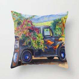 Hanapepe Truck Throw Pillow