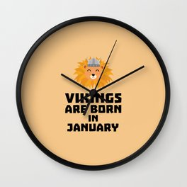 Vikings are born in January T-Shirt for all Ages Wall Clock