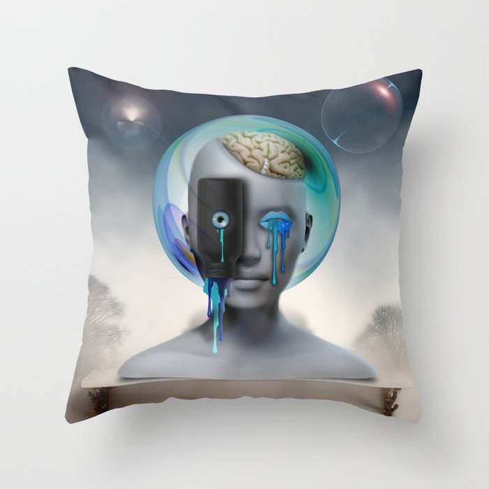 Not Your Ancient Egyptian Grandmother's Apothecary Throw Pillow