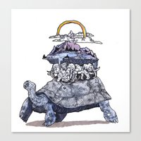 discworld Canvas Prints featuring The discworld by Aya Rosen