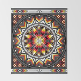 Sacred Places Red Throw Blanket