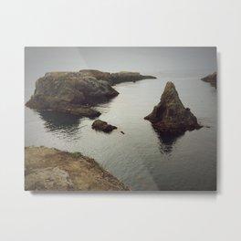Northern California Cliffs Metal Print