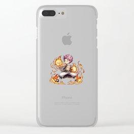 Natsu chibi fire Clear iPhone Case