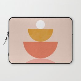 Abstraction_Circles_Balance_Modern_Minimalism 008 Laptop Sleeve