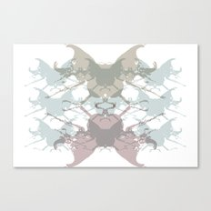 Scarabs Faded Canvas Print