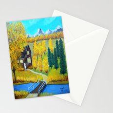 over the wooden bridge  Stationery Cards