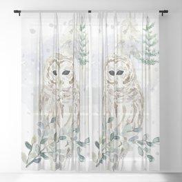 Christmas Morning 6 Sheer Curtain