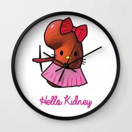 Hello Kidney Wall Clock