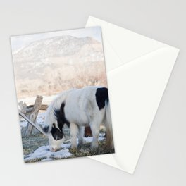 mini horses and a view Stationery Cards