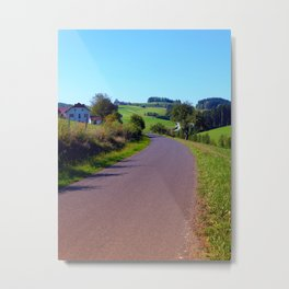 Country road with scenery II | landscape photography Metal Print