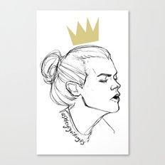 King Bun Canvas Print