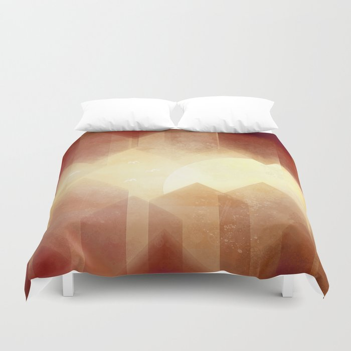 Welcome to Gear City Duvet Cover