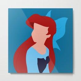 Ariel - Blue Metal Print
