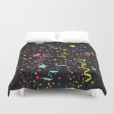 Wishes as Confetti / New Years Confetti. Duvet Cover
