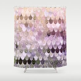 SUMMER MERMAID MOONSHINE GOLD Shower Curtain