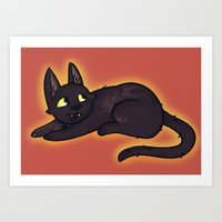 kiki Art Prints featuring Kiki by StickyHunter