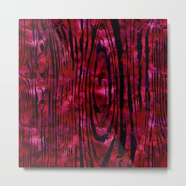 Red Wood Print Metal Print