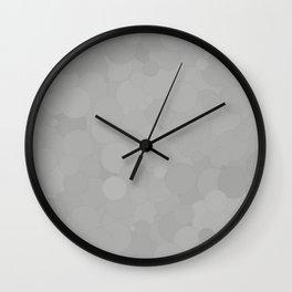 Silver Bubble Dot Color Accent Wall Clock