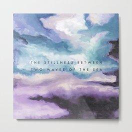 Stillness [Collaboration with Jacqueline Maldonado] Metal Print
