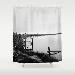Whitebaiting Shower Curtain