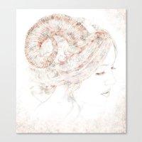 capricorn Canvas Prints featuring Capricorn by Ellen Macintyre