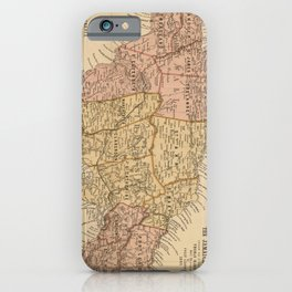 Vintage Map of Jamaica (1893) iPhone Case