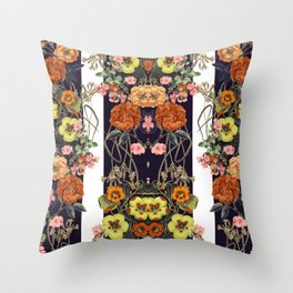 Floral Crossings 02 Throw Pillow