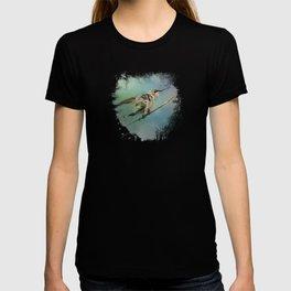 Hummingbird On Mint T-shirt