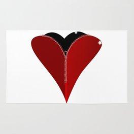 Zipper Heart Rug