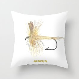 Light Cahill Dry Fly Throw Pillow