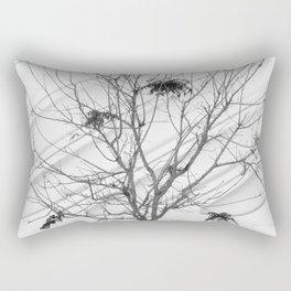 The Broad In the Afternoon Black & White Photography III Rectangular Pillow