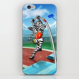 Olympic Pole Vault Zebra iPhone Skin