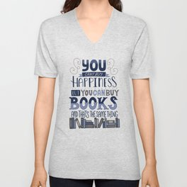 Happiness and Books Unisex V-Neck