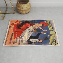 Taverne Olympia Restaurant 1896 By Jules Cheret | Reproduction Art Nouveau Rug