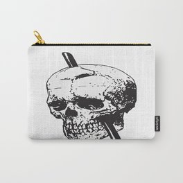 Frontal Lobotomy Skull Of Phineas Gage Vector Isolated Carry-All Pouch