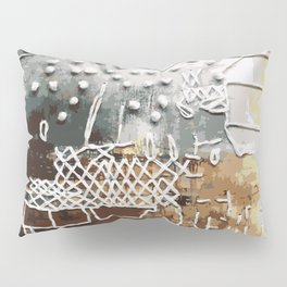 Embroidered Landscape Pillow Sham
