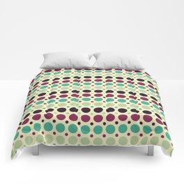 Peacock Polka Dot Pattern Comforters