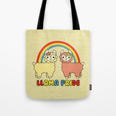 Cute Kawaii Llama Pride Rainbow Tote Bag