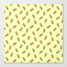 Carrot whimsical pattern Canvas Print