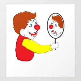 The clown Art Print
