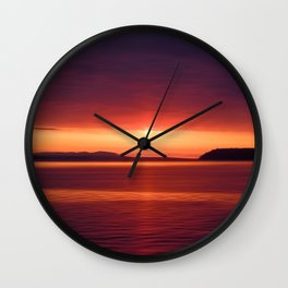 Colorful Sunset Wall Clock