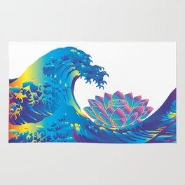 Hokusai Rainbow & Lotus Rug