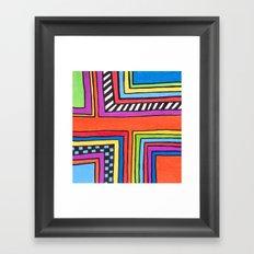 funky right angles Framed Art Print